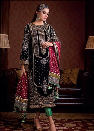 Gul Ahmed Embroidered Velvet Unstitched 3 Piece Suit GA19NC VLW 10 NAURATAN -...