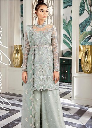 Freesia by Suffuse Embroidered Net Unstitched 3 Piece Suit FRS19W Jade Opal -...