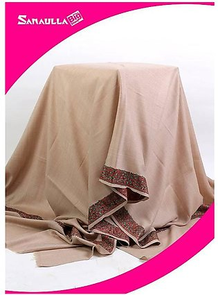 Fawn Embroidered Pashmina Shawls for ladies - SW 251