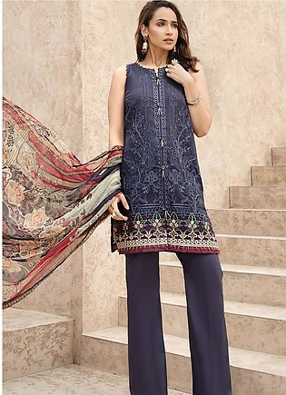 IRIS by Jazmin Embroidered Lawn Unstitched 3 Piece Suit JZ20I 6 - Summer Coll...