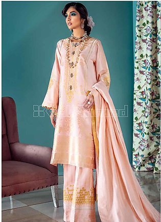 Gul Ahmed Embroidered Jacquard Unstitched 3 Piece Suit GA20PL LE-19 - Spring / …