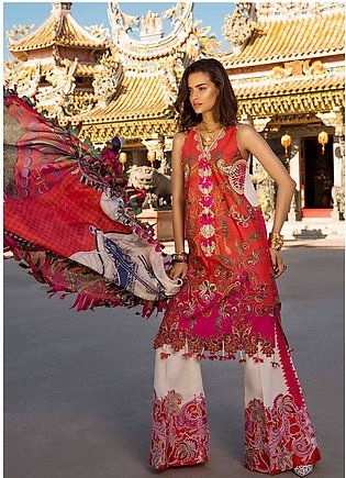 Crimson Embroidered Lawn Unstitched 3 Piece Suit CRM19L 5A - Spring / Summer ...
