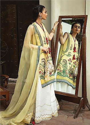 Vaada by Republic Womenswear Embroidered Jacquard Unstitched 3 Piece Suit RW2...