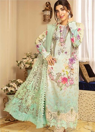 Rang Rasiya Embroidered Lawn Unstitched 3 Piece Suit RRC19E 809 - Festive Col...