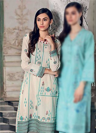 Gul Ahmed Embroidered Lawn Unstitched Kurties GA19E FE-162 - Eid Collection