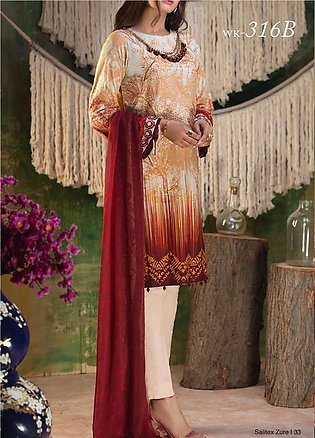 Salitex Embroidered Lawn Unstitched 3 Piece Suit ST19ZL 316B - Summer Collection