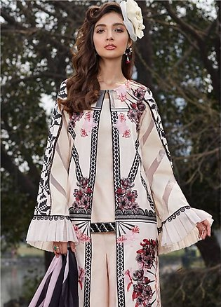 Asifa & Nabeel Embroidered Lawn Unstitched 3 Piece Suit AN20L Smell the Rose ...