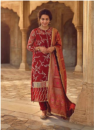 Shahnameh by Qalamkar Embroidered Organza Unstitched 3 Piece Suit QLM19SH 06 ...