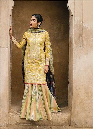 Zara Shahjahan Embroidered Lawn Unstitched 3 Piece Suit ZSJ20GL MAHIN-A - Spr...