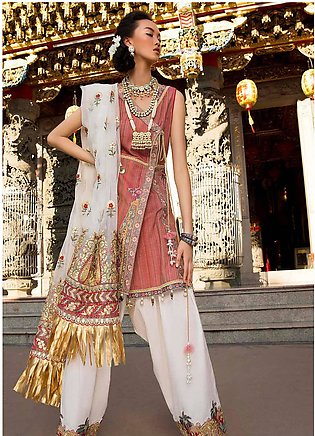 Crimson Embroidered Lawn Unstitched 3 Piece Suit CRM19L 8B - Spring / Summer ...