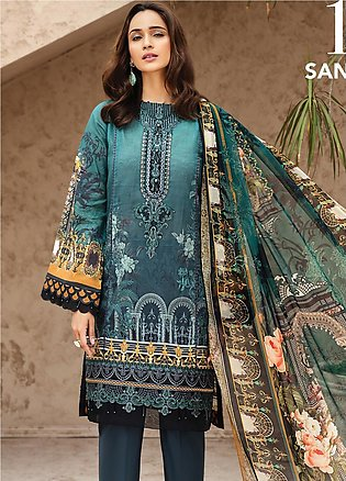 IRIS by Jazmin Embroidered Lawn Unstitched 3 Piece Suit JZ20I 10 - Summer Col...