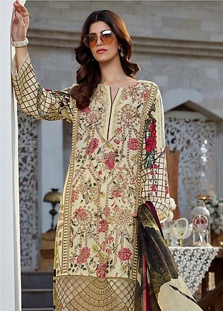 Asifa & Nabeel Embroidered Lawn Unstitched 3 Piece Suit AN20L Svasa Glint - S...