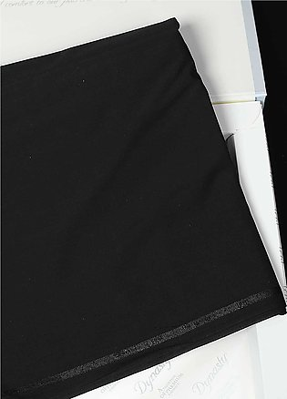 Dynasty Plain Wash N Wear Unstitched Fabric S Q Black - Summer Collection