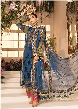 Mbroidered By Maria B Embroidered Lawn Suits Unstitched 3 Piece MB21MB 04 - Eid…