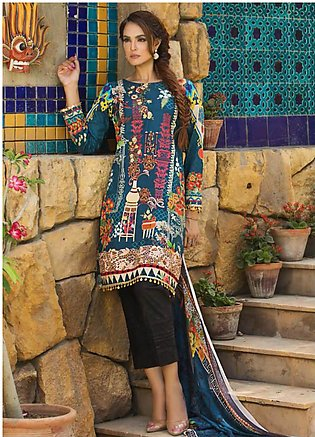 Nadia Hussain Embroidered Lawn Unstitched 3 Piece Suit NH19L 06 - Spring / Su...