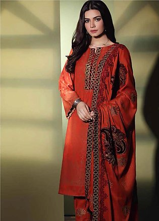 Charizma Embroidered Jacquard Unstitched 3 Piece Suit CRZ19W 09 - Winter Coll...