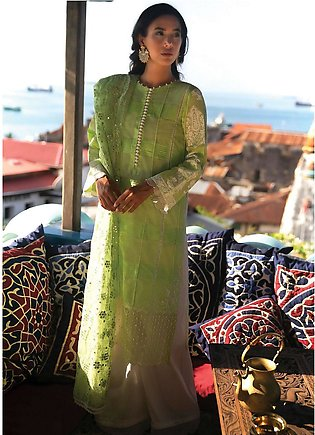 Qalamkar Embroidered Lawn Unstitched 3 Piece Suit QLM20L 03 - Luxury Collection
