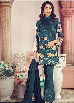 RajBari Embroidered Jacquard Unstitched 3 Piece Suit RB19WF 8A - Winter Colle...