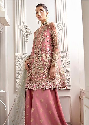 Freesia by Suffuse Embroidered Net Unstitched 3 Piece Suit FRS19W Amaranth - ...