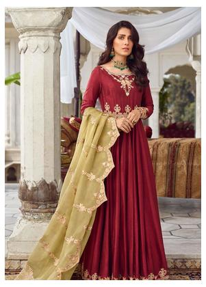 Qalamkar Embroidered Organza Unstitched 3 Piece Suit QLM19WD 06 Anaan - Wedding Collection