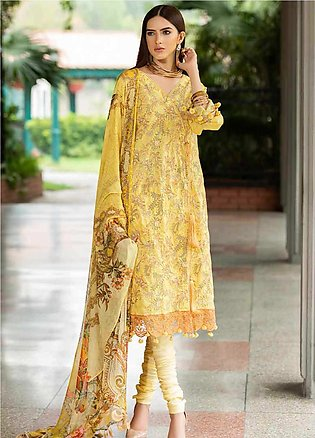Amal by Motifz Embroidered Lawn Unstitched 3 Piece Suit AMT20F 2600 Vegas Gold …