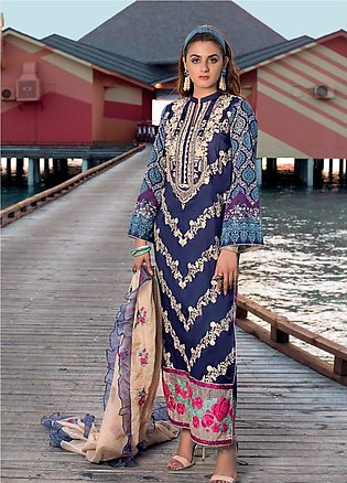 Zainab Chottani Embroidered Lawn Unstitched 3 Piece Suit ZC20LL 2A - Luxury C...