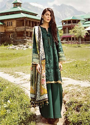 Zara Shahjahan Embroidered Lawn Unstitched 3 Piece Suit ZSM18L 01 - Luxury Co...