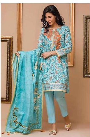 Zeen By Cambridge Embroidered Linen Unstitched 3 Piece Suit ED17W 377009