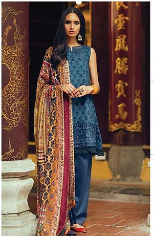 Zara Shahjahan Embroidered Lawn Unstitched 3 Piece Suit ZS17l Jashan