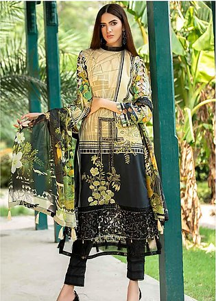 Amal by Motifz Embroidered Lawn Unstitched 3 Piece Suit AMT20F 2597 Olive Green…