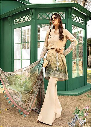 Maria B Embroidered Lawn Unstitched 3 Piece Suit MB20S 2A - Summer Collection