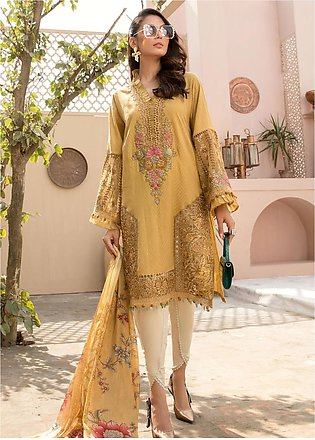 Maria B Embroidered Lawn Suits Unstitched 3 Piece MB21EL D-09 - Festive Collect…