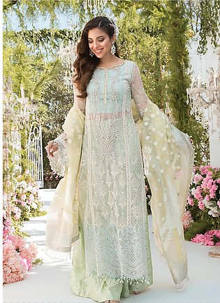 Mbroidered By Maria B Embroidered Lawn Suits Unstitched 3 Piece MB21MB 02 - Eid…