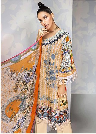 Gul Ahmed Embroidered Cambric Unstitched 3 Piece Suit GA19CF BM-133 - Mid Summe…
