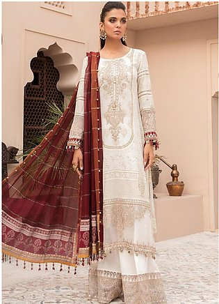 Maria B Embroidered Lawn Suits Unstitched 3 Piece MB21EL D-01 - Festive Collect…
