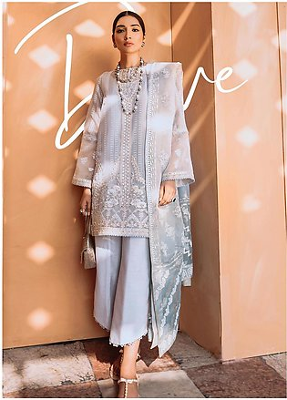 Freesia by Suffuse Embroidered Organza Stitched 3 Piece Suit FRS19O DOVE