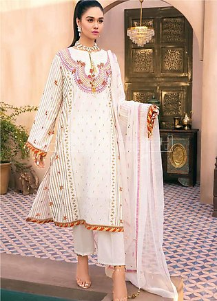 Gul Ahmed Embroidered Jacquard Unstitched 3 Piece Suit GA20PL PM-350 - Spring /…