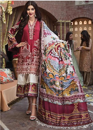 Anaya by Kiran Chaudhry Embroidered Lawn Unstitched 3 Piece Suit AKC19F 08 AN...