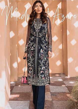 Freesia by Suffuse Embroidered Organza Stitched 3 Piece Suit FRS19O MIDNIGHT ...