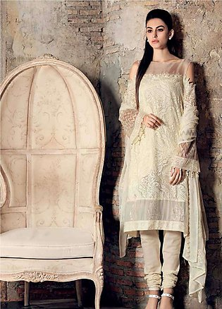 Gul Ahmed Embroidered Chiffon Unstitched 3 Piece Suit GA19E FE-227 - Eid Coll...
