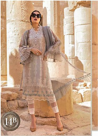 Maria B Embroidered Jacquard Unstitched 3 Piece Suit MB20SV 2014 B - Spring /...