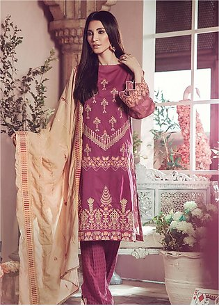 RajBari Embroidered Jacquard Unstitched 3 Piece Suit RB19WF 2B - Winter Colle...