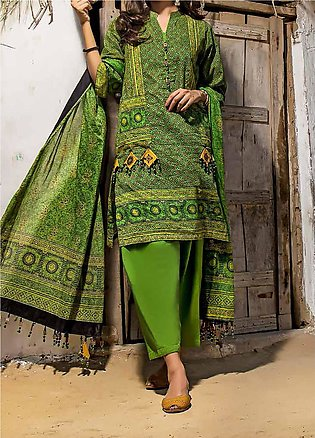 Gul Ahmed Printed Lawn Unstitched 2 Piece Suit GA20AK TL-300 - Summer Collection