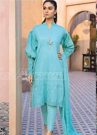 Gul Ahmed Embroidered Cotton Silk Unstitched 3 Piece Suit GA20PL PM-328 - Spr...