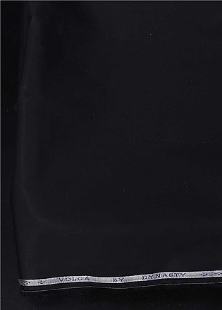 Dynasty Plain Cotton Unstitched Fabric Volga Navy 4P5 - Summer Collection