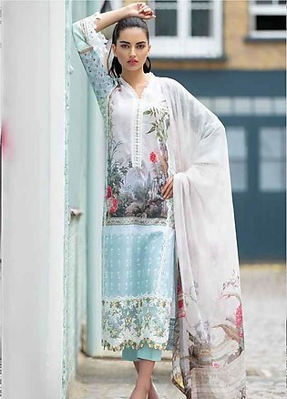 Sobia Nazir Embroidered Lawn Unstitched 3 Piece Suit SN20L 5A - Summer Collec...