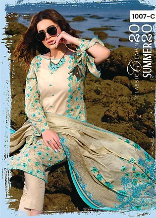 Five Star Printed Lawn Unstitched 3 Piece Suit FS20C 1007C - Spring / Summer Co…