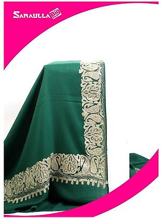 Green Embroidered Pashmina Shawls for ladies - SW 219