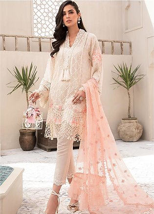 Maria B Embroidered Lawn Suits Unstitched 3 Piece MB21EL D-05 - Festive Collect…