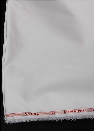 Dynasty Plain Cotton Unstitched Fabric Volga Cream 4P5 - Summer Collection